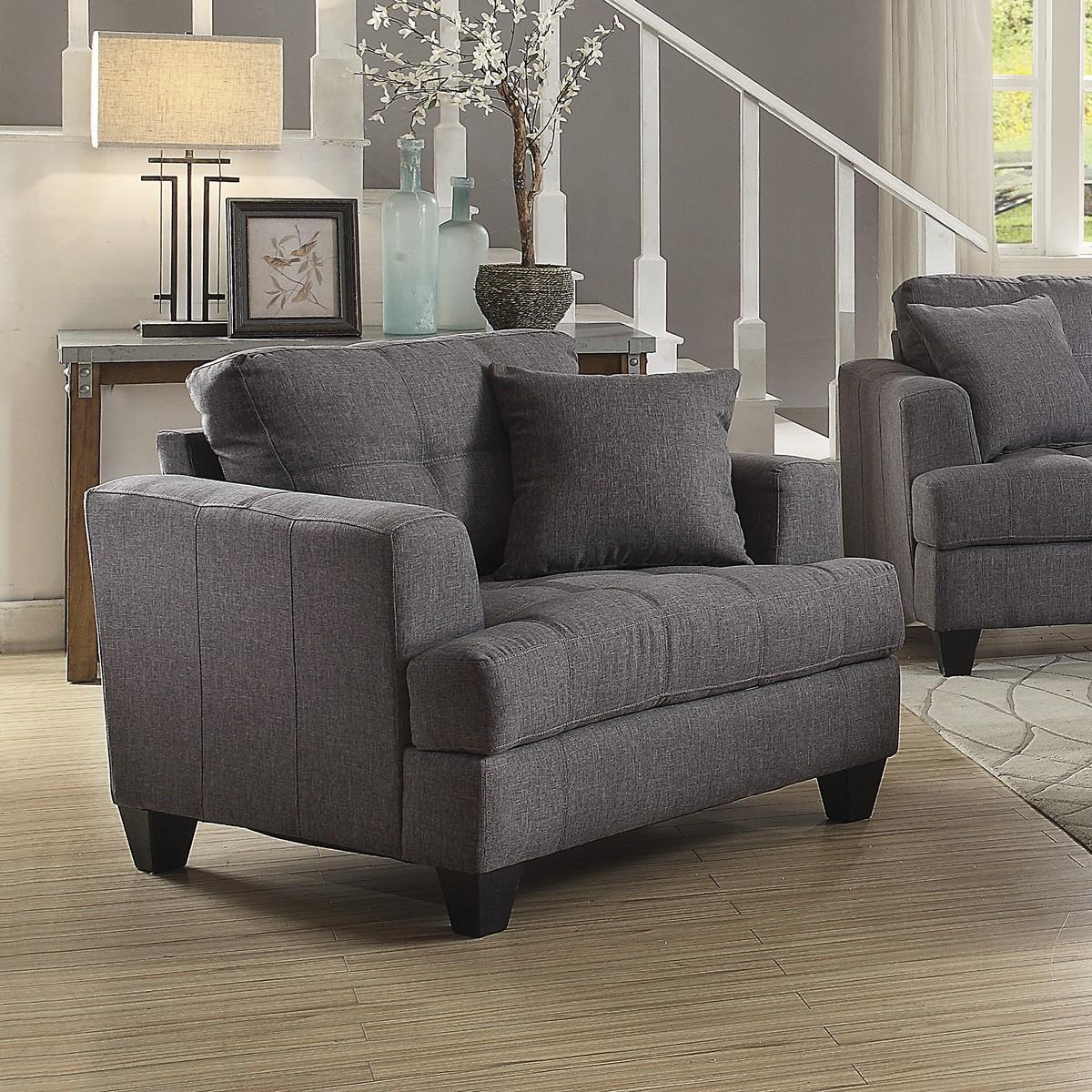Coaster Samuel Chair - Charcoal