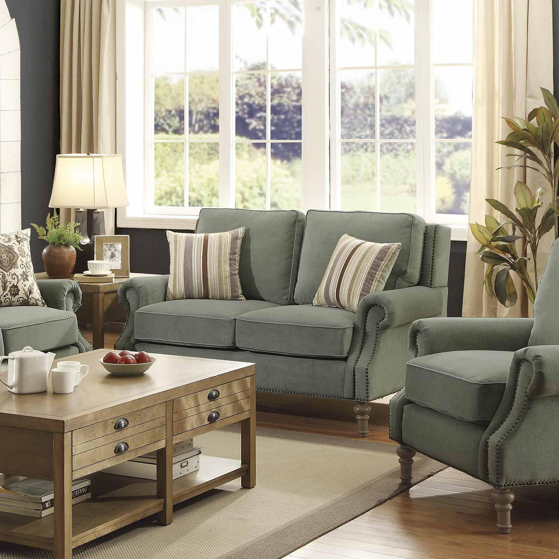 Coaster Rosenberg Sofa Set Light Sage 505221 SOFA SET at