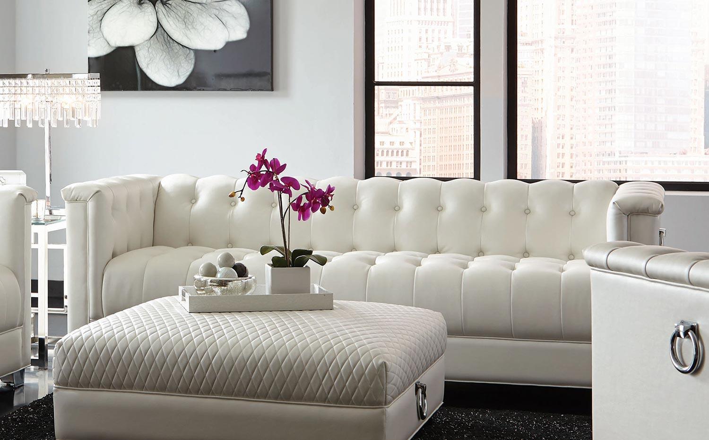 Coaster Chaviano Sofa - Pearl White