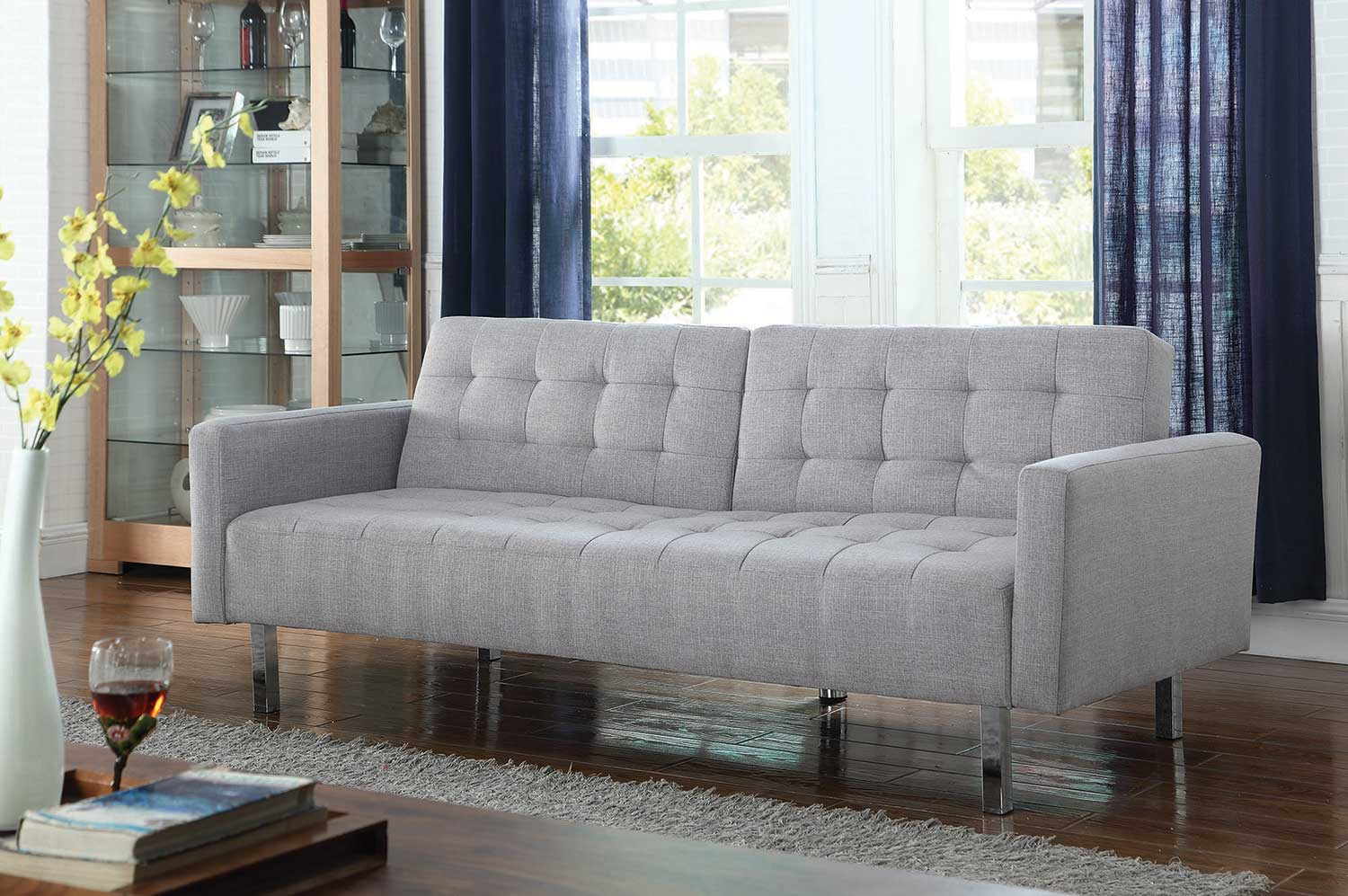Coaster 505616 Sofa Bed - Light Grey
