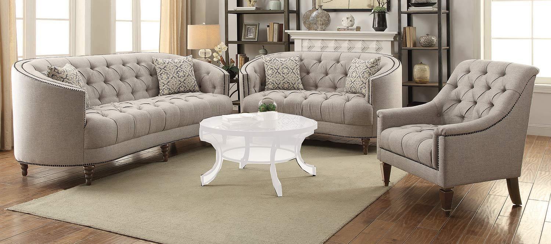 Coaster Avonlea Sofa Set - Stone Grey
