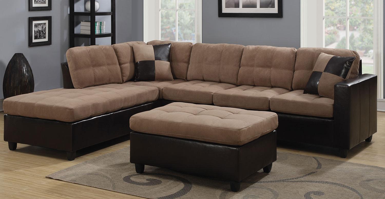 Coaster Mallory Sectional Sofa Set - Tan