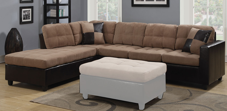 Coaster Mallory Sectional Sofa - Tan