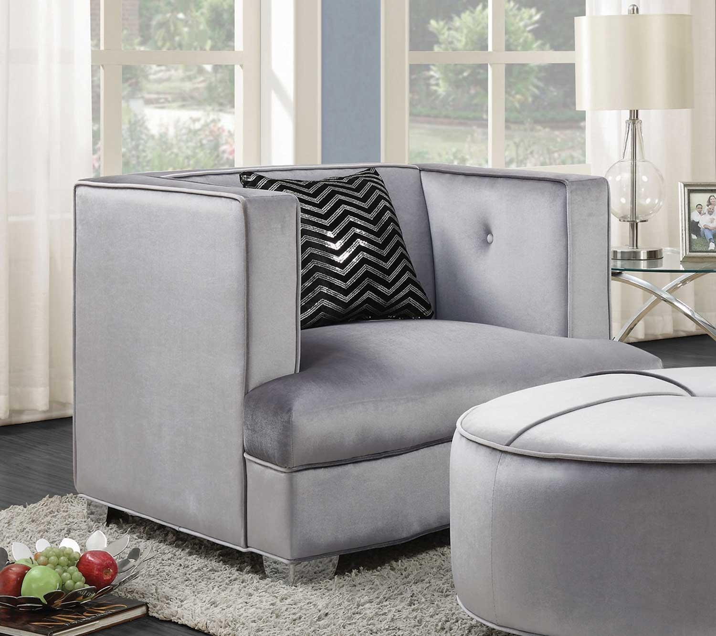 Coaster Caldwell Chair - Silver
