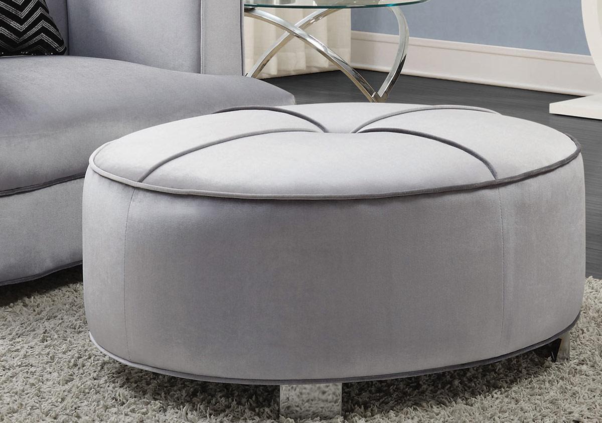 Coaster Caldwell Ottoman - Silver