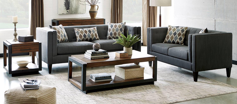 Coaster Sawyer Sofa Set - Dusty Blue
