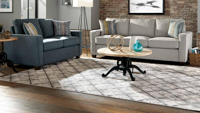 Coaster Brownswood Sofa Set - Light Grey/Blue