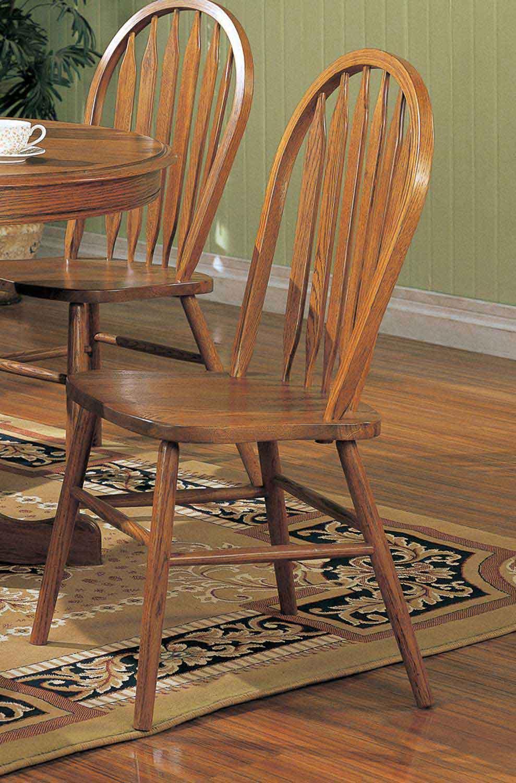 Coaster Mackinaw 5276AN Side Chair - Warm Oak