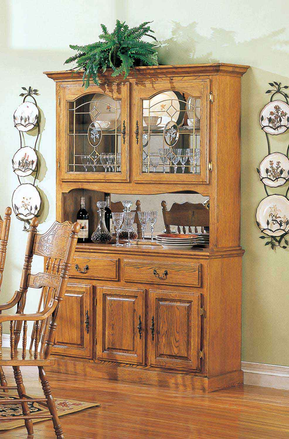 Coaster Mackinaw 5327N China Cabinet - Warm Oak