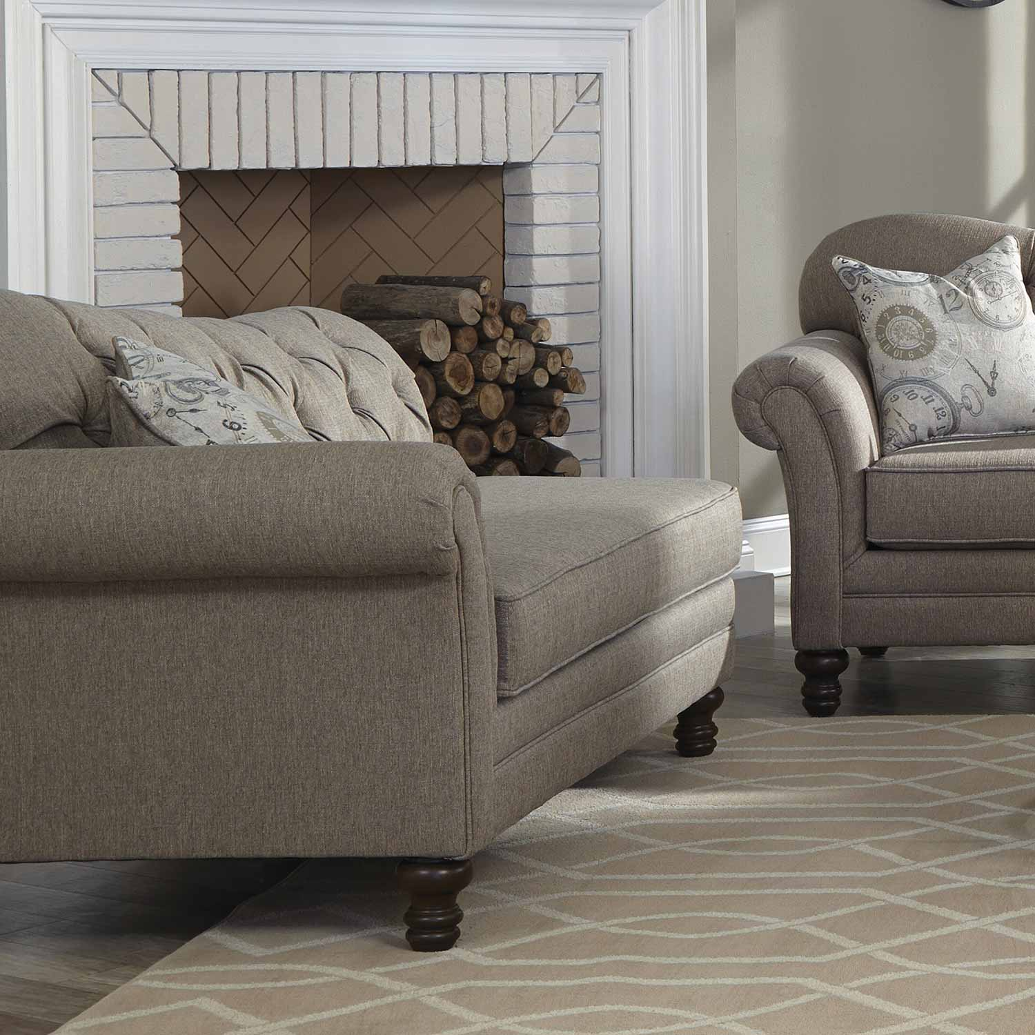 Coaster Carnahan Chaise - Stone Grey