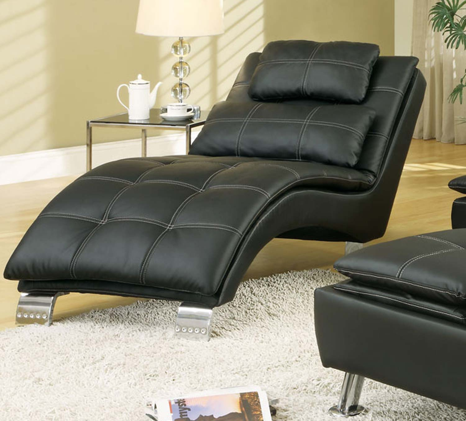 Coaster 300281 Chaise - Black