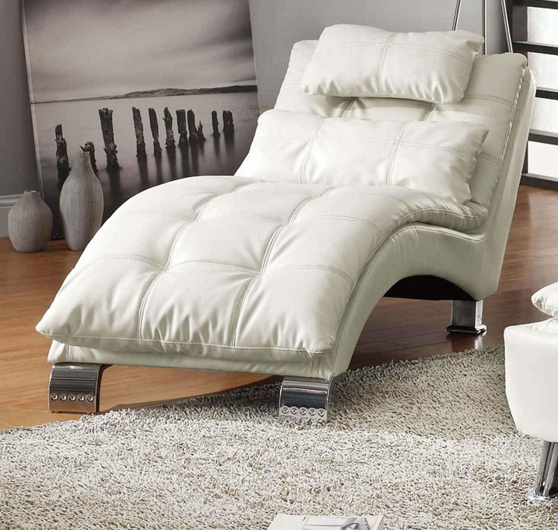 Coaster Dilleston Chaise - White