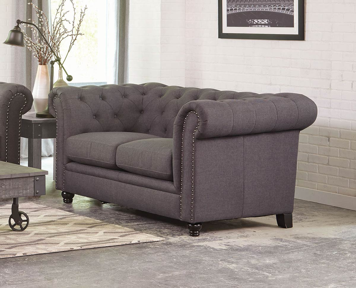 Coaster Roy Sofa Set Grey 550361 Living Set At