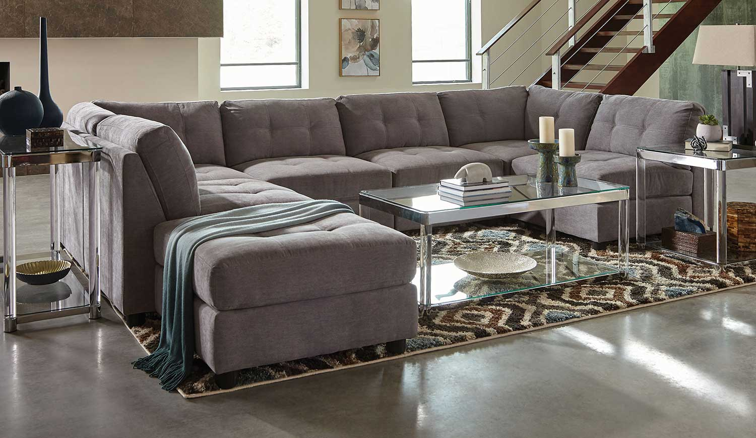 Coaster Claude Sectional Sofa Set - Dove : coaster sectional sofa - Sectionals, Sofas & Couches