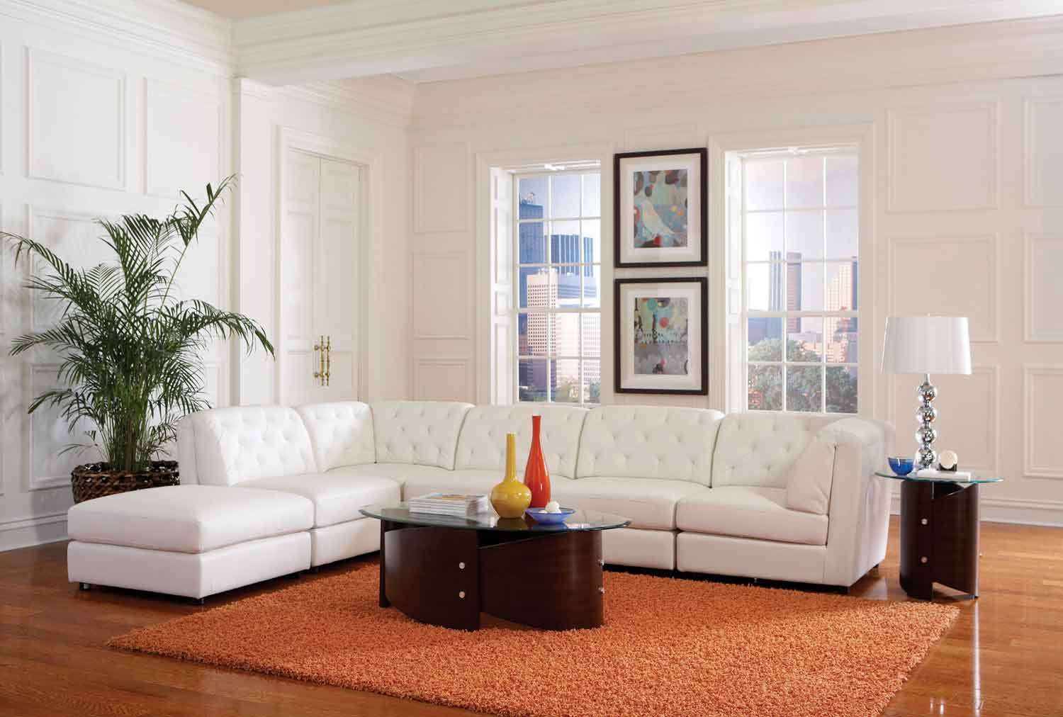 Coaster Quinn Living Room Set - White