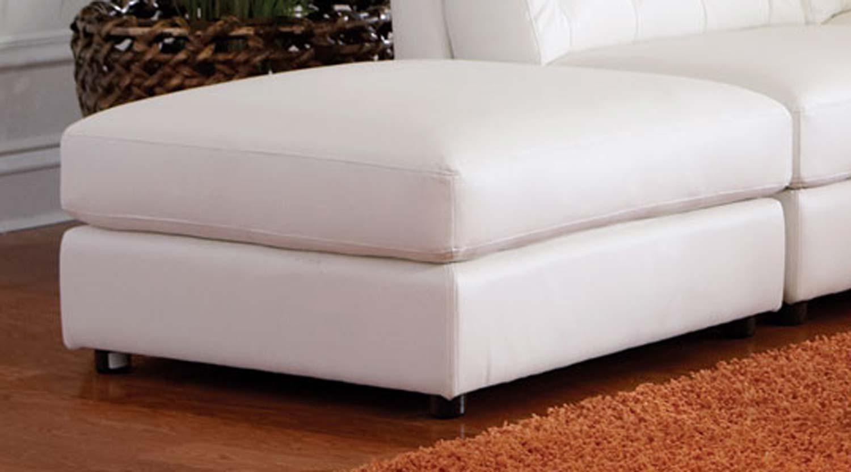 Coaster Quinn Storage Ottoman - White