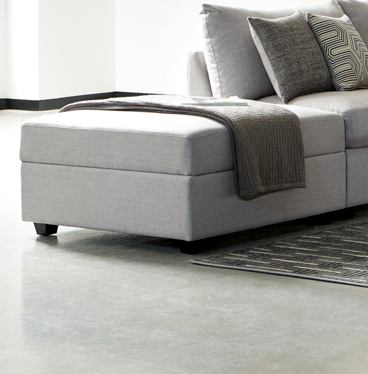 Coaster Charlotte Storage Ottoman - Grey