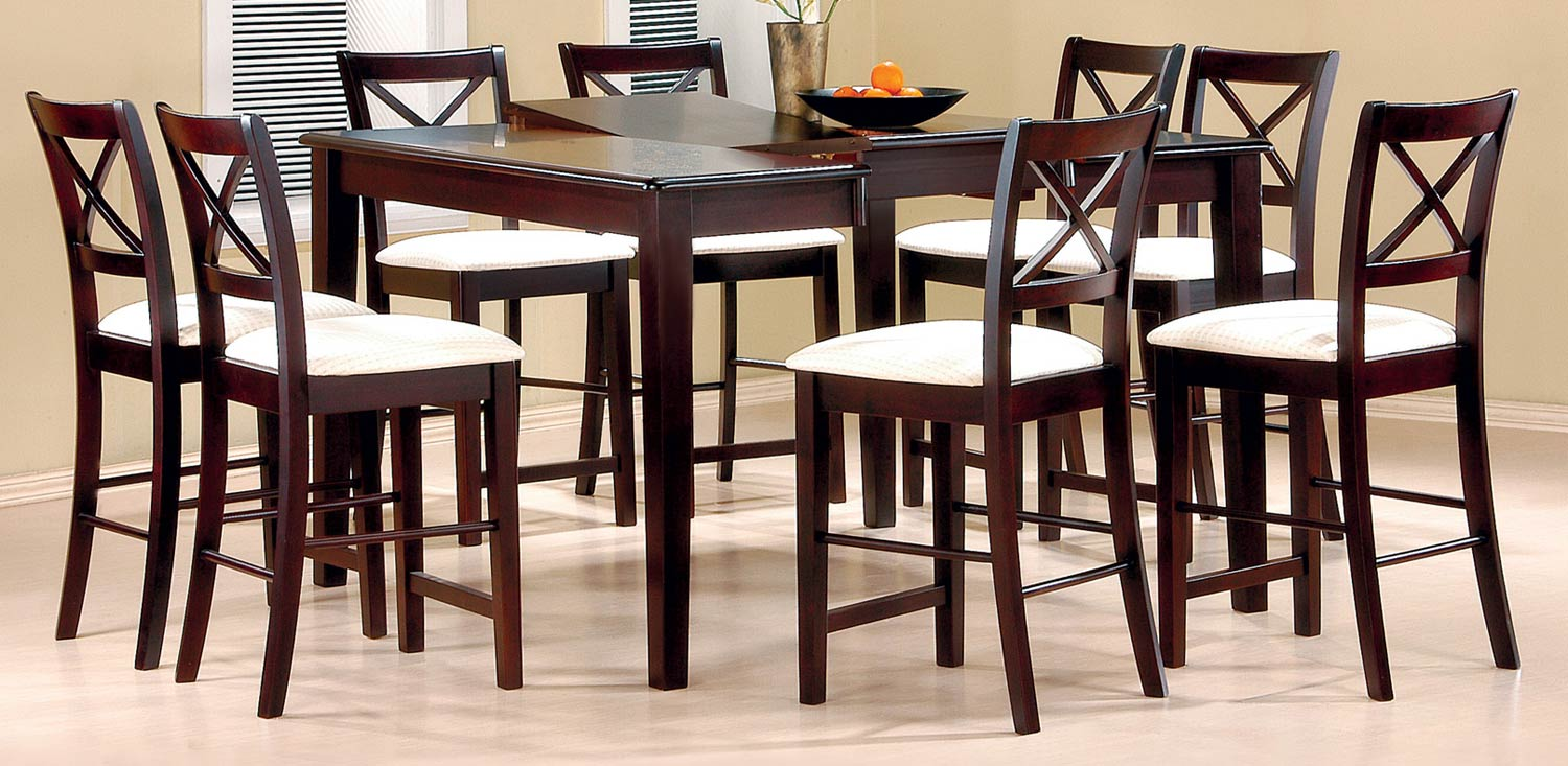 Coaster Pryore Counter Height Dining Set - Cappuccino