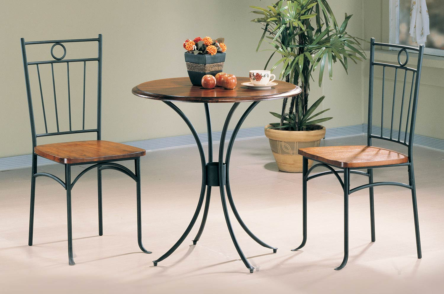 Coaster 5939 3PC Dining Set - Metal and Wood