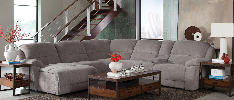 Coaster Mackenzie 6 Piece Motion Sectional Sofa Set