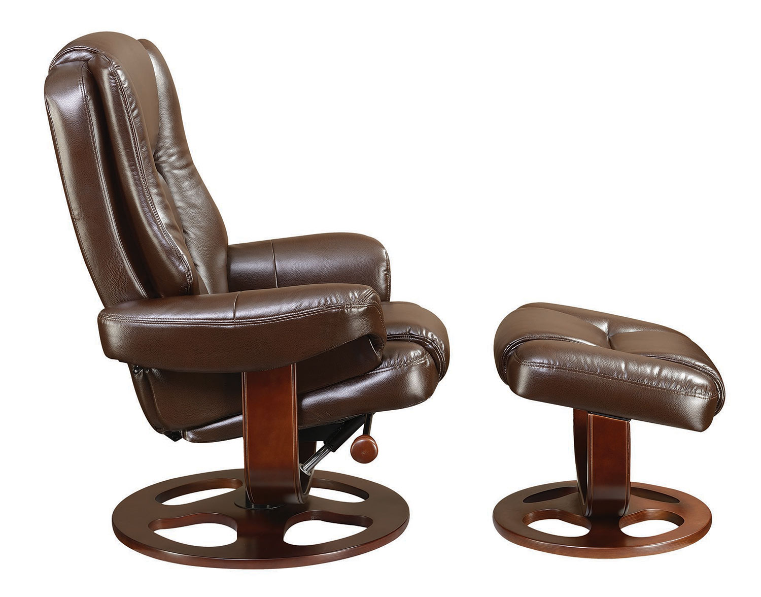 Coaster 600086 Glider Recliner with Ottoman - Brown