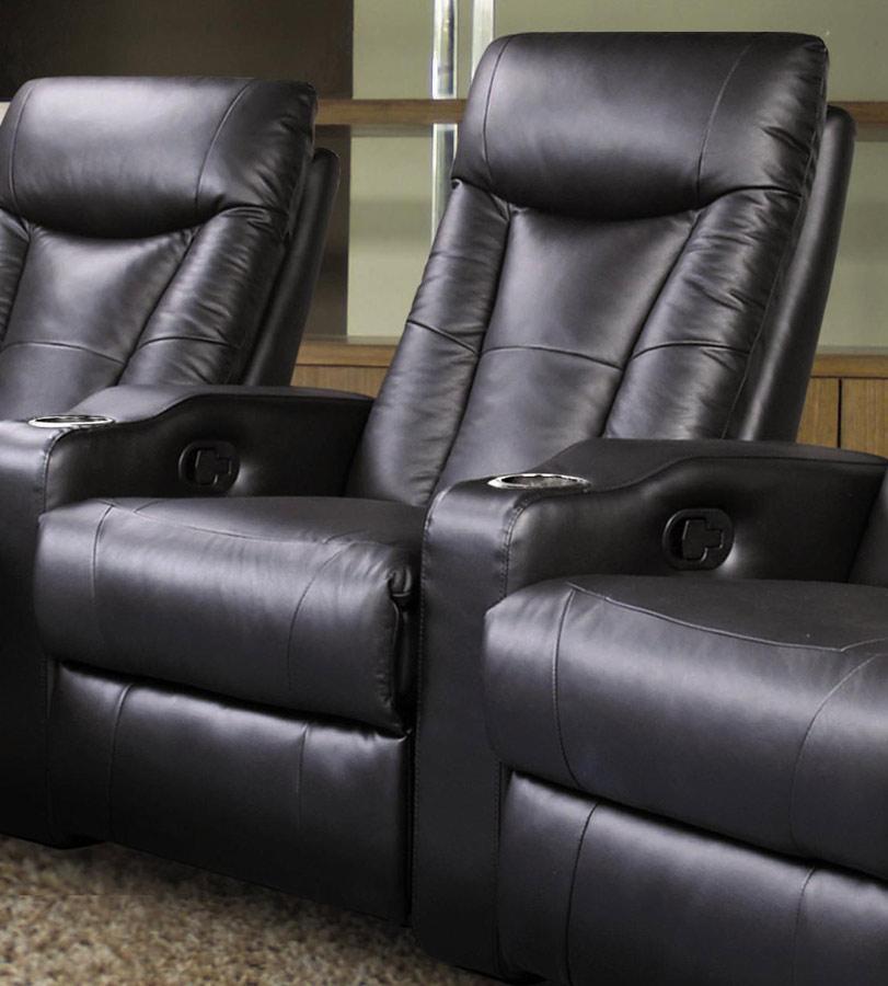 Coaster Pavillion Home Theater Seating Set - Black