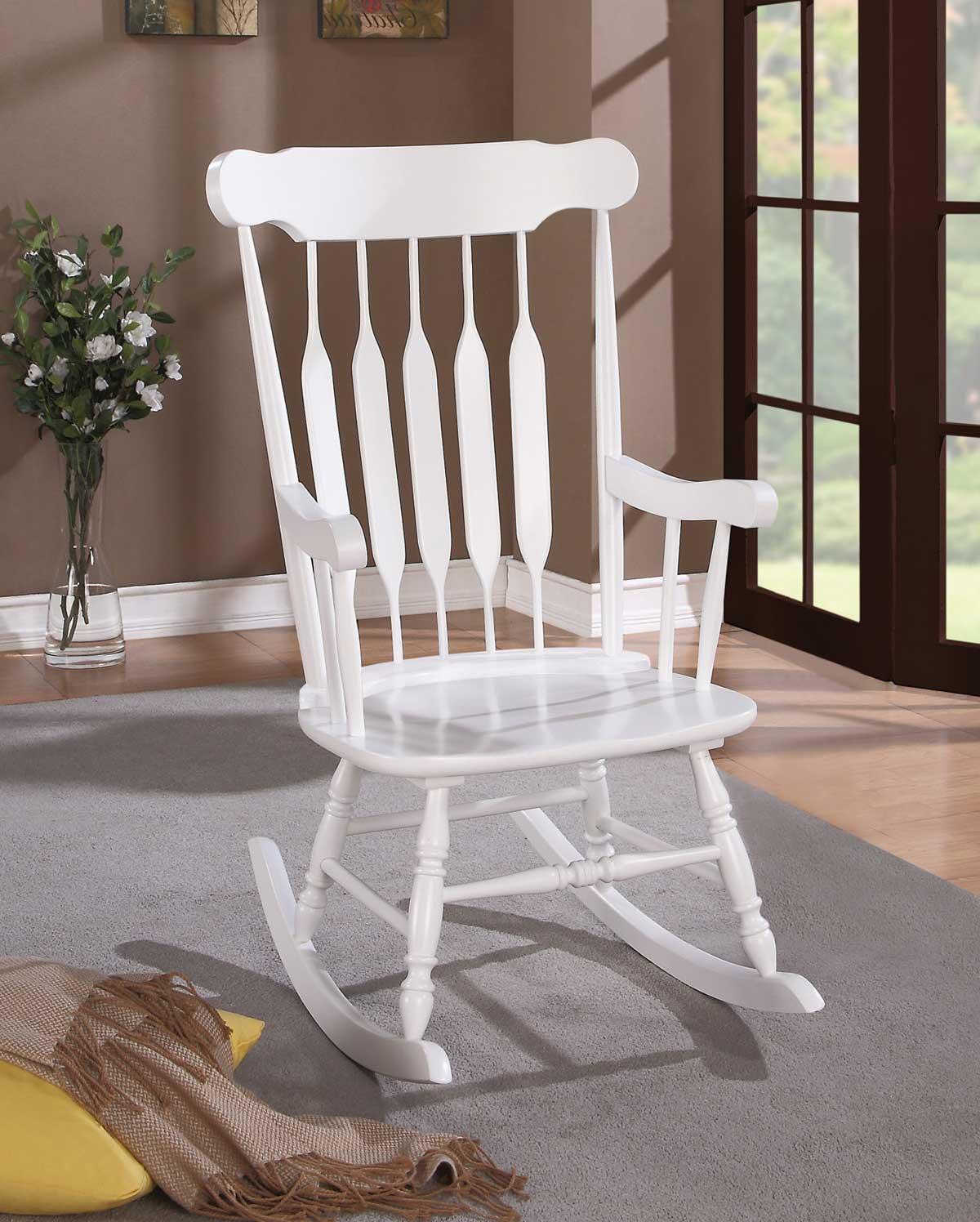 Coaster 600174 Rocking Chair - White