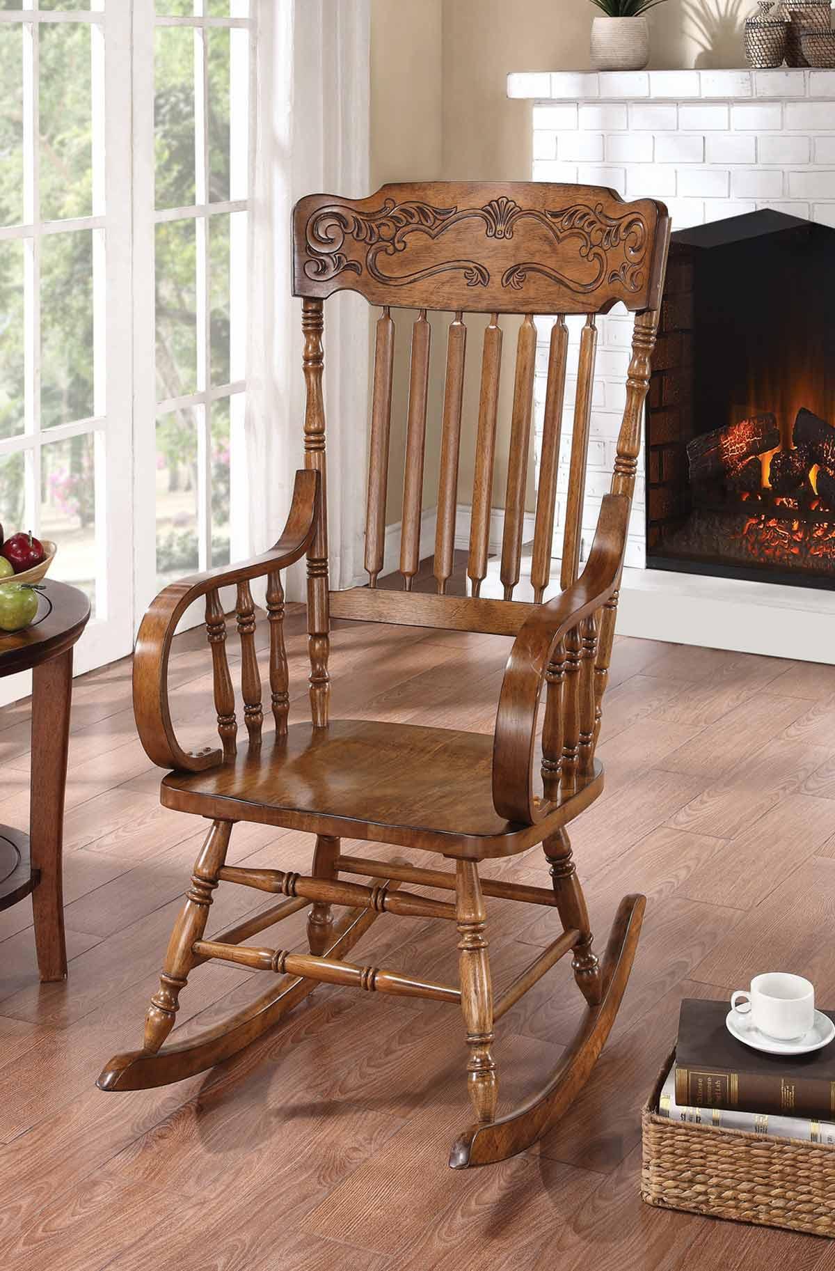 Coaster 600175 Rocking Chair - Warm Brown