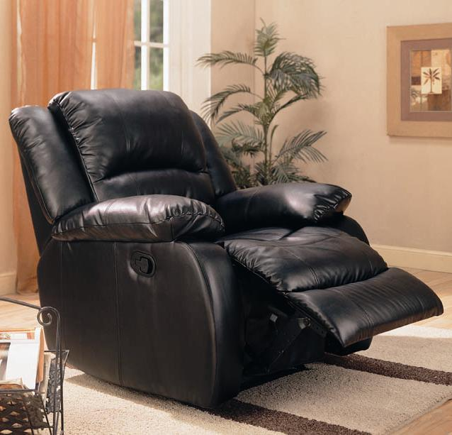 600247 Rocker Recliner - Black - Coaster