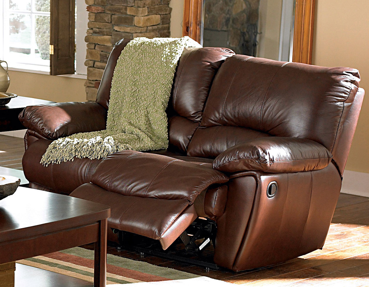 Coaster Clifford Power Reclining Love Seat - Dark Brown