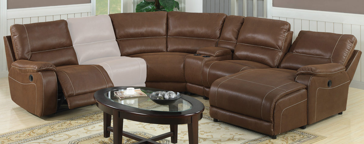 Sectional sofas with recliners for Loukas leather reclining sectional sofa with reclining chaise
