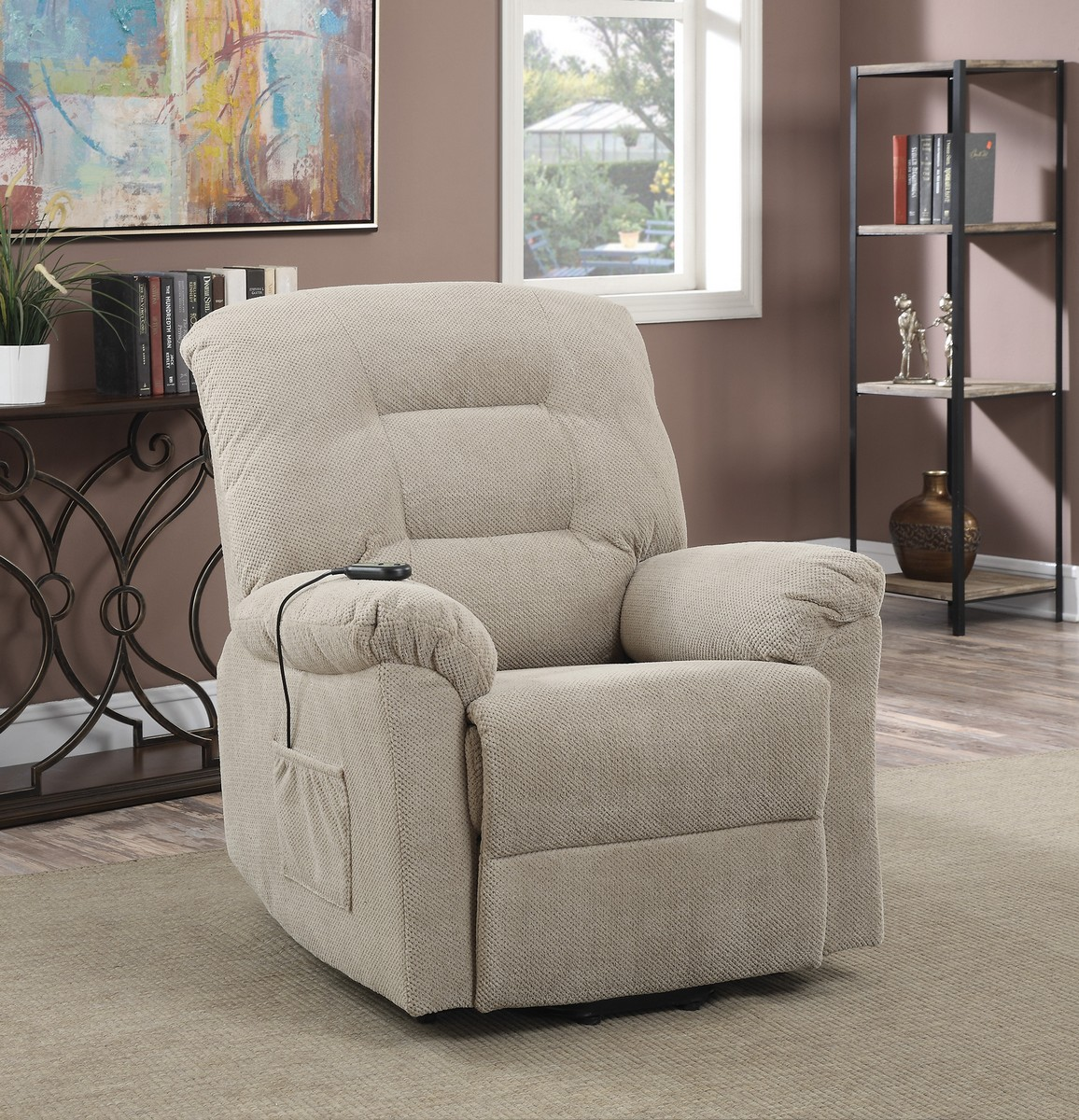 Coaster 600399 Power Lift Recliner - Taupe