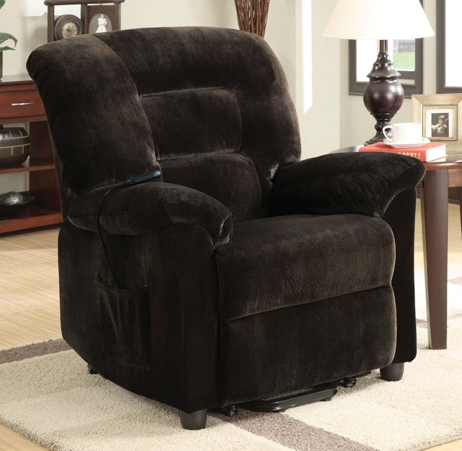Coaster 601026 Power Lift Recliner - Chocolate