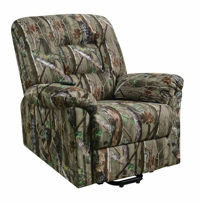Camo Lift Chair: Coaster 601027 Power Lift Recliner
