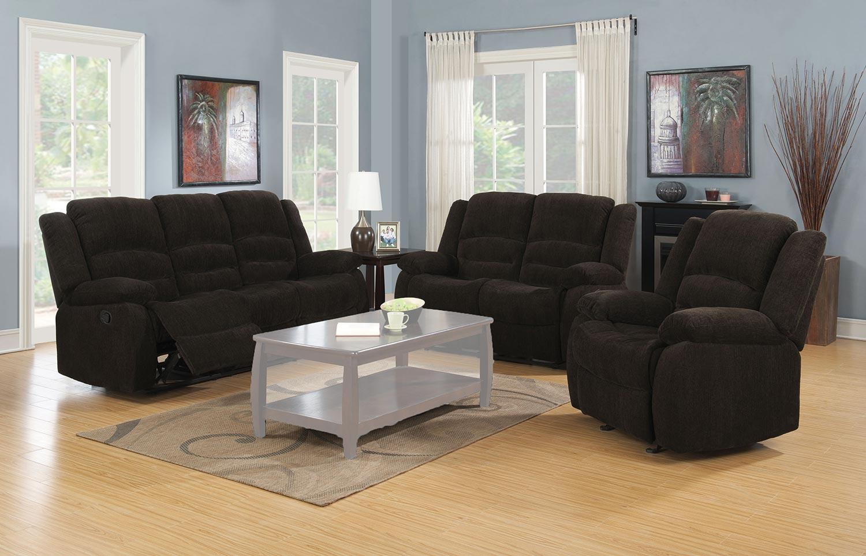 Coaster Gordon Motion Sofa Set - Dark Brown