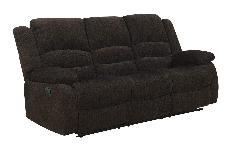 Coaster Gordon Reclining Sofa - Dark Brown