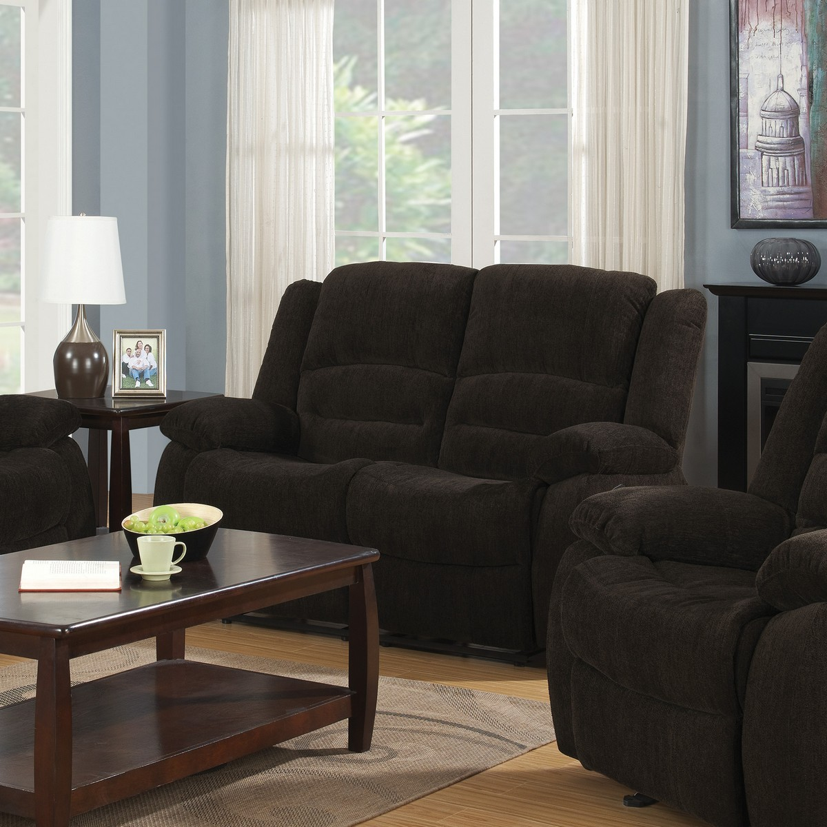 Coaster Gordon Motion Sofa Set Dark Brown 60146 Sofa Set