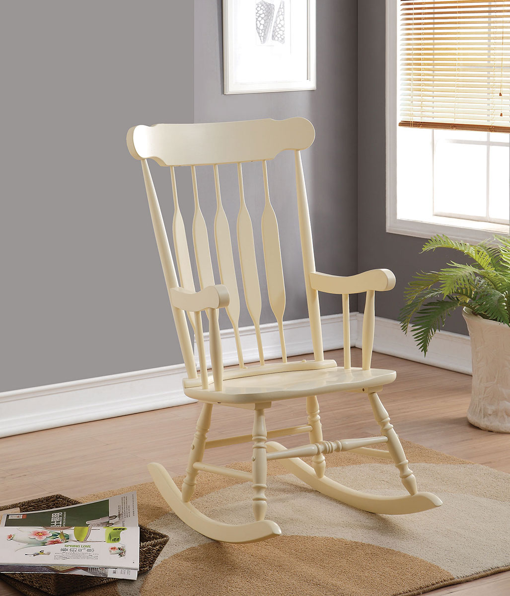 Coaster 601498 Rocking Chair - Yellow