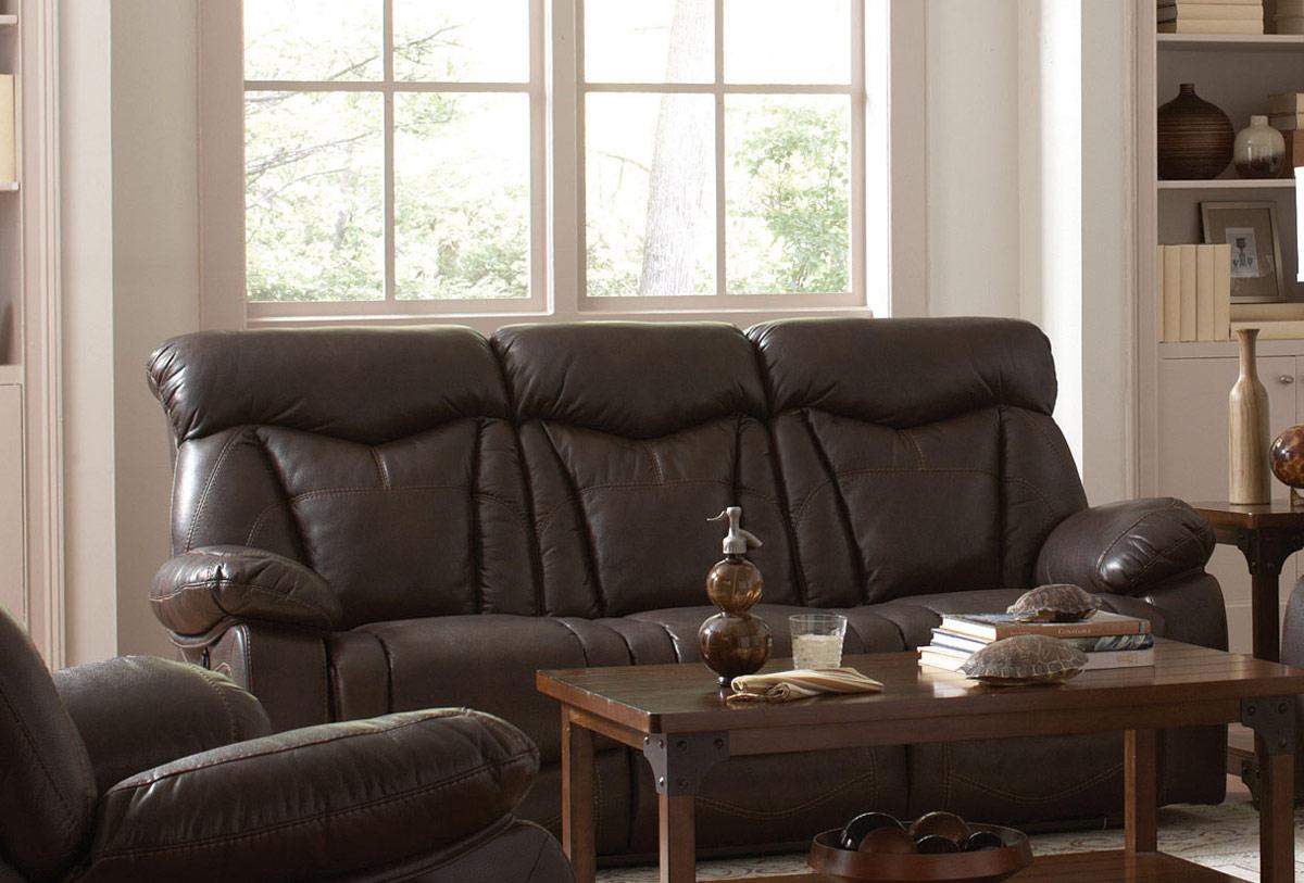 Coaster Zimmerman Motion Sofa - Dark Brown