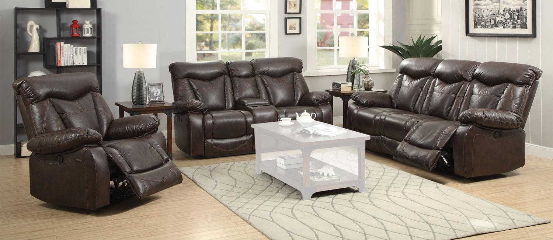 Coaster Zimmerman Motion Power Sofa Set - Dark Brown