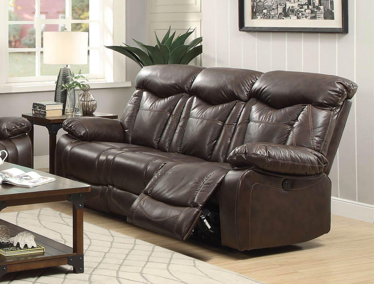 Coaster Zimmerman Motion Power Sofa - Dark Brown