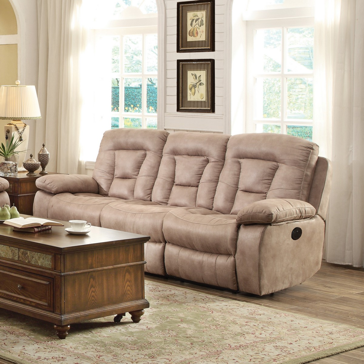 Coaster Evensky Power Reclining Sofa Bone 601861p At
