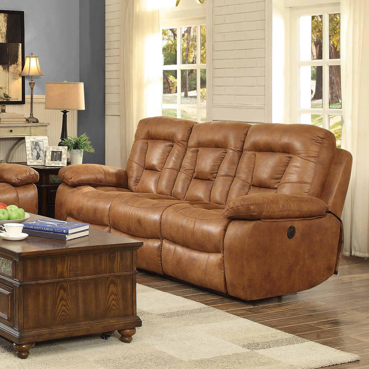 Coaster Evensky Power Reclining Sofa Saddle 601864p At