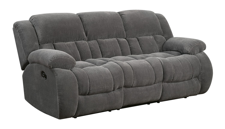 Coaster Weissman Reclining Sofa - Charcoal
