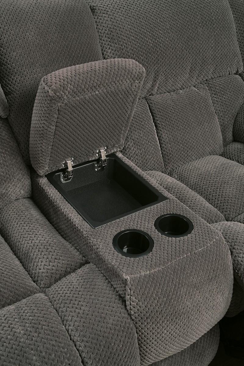 Coaster Weissman Reclining Love Seat - Charcoal