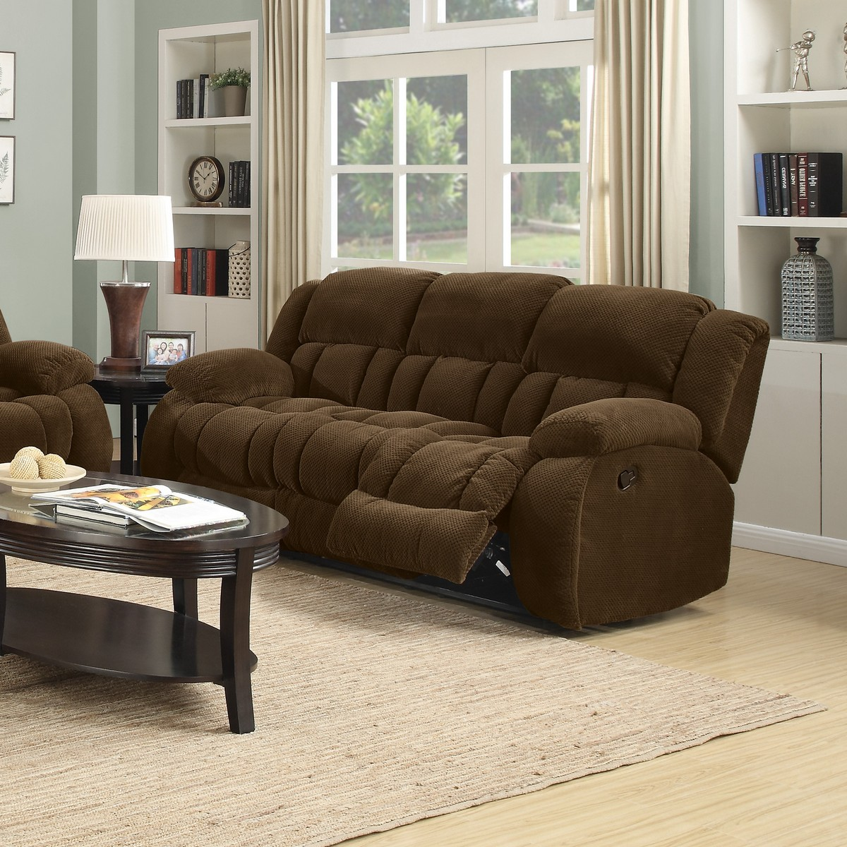 Coaster Weissman Reclining Sofa - Brown