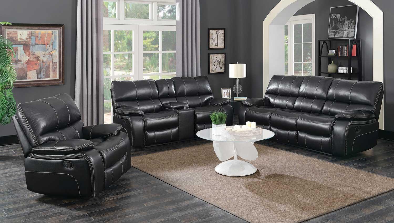 Coaster Willemse Motion Sofa Set - Black