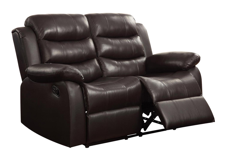 Coaster Rodman Motion Loveseat Dark Brown 602222 At