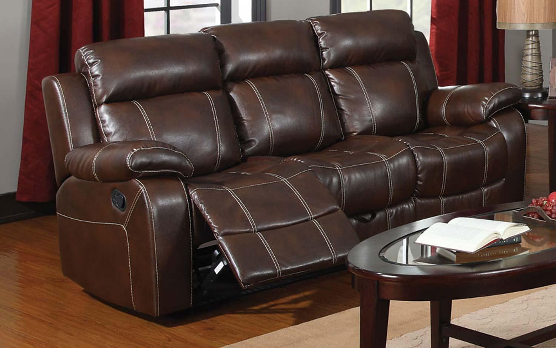 Coaster Myleene Motion Sofa - Chestnut