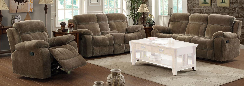 Coaster Myleene Reclining Sofa Set - Brown
